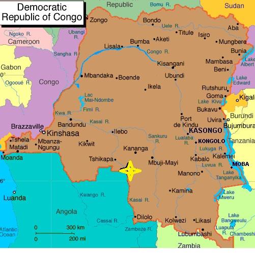 Congo con villaggio